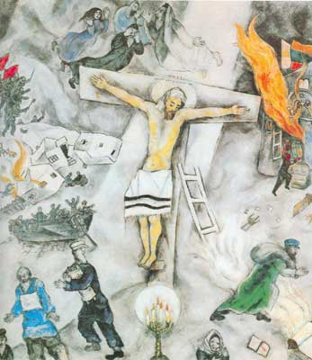 Marc Chagall, White Cruxifixion Fine Art Reproduction Oil Painting