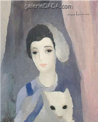 Marie Laurencin, Girl with a White Dog Fine Art Reproduction Oil Painting