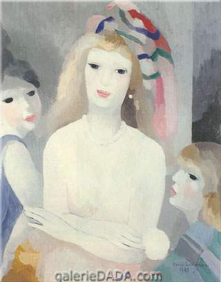 Marie Laurencin, Three Young Women Fine Art Reproduction Oil Painting