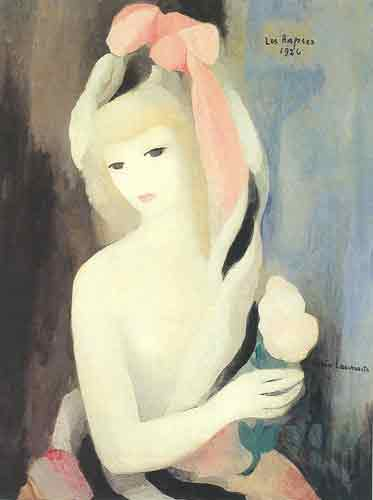 Marie Laurencin, Young Girl with a Rose in the Her Hand Fine Art Reproduction Oil Painting