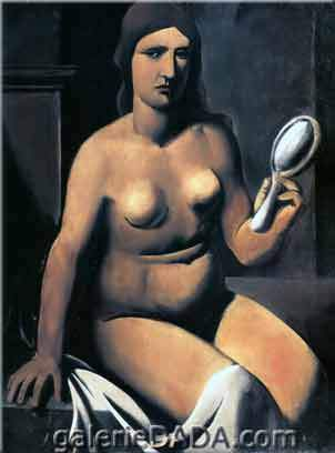 Mario Sironi, Nude with Mirror Fine Art Reproduction Oil Painting