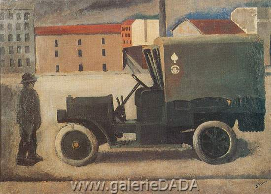Mario Sironi, Truck Fine Art Reproduction Oil Painting