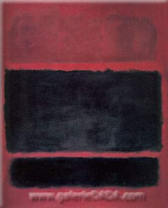 Mark Rothko, Brown Black on Maroon Fine Art Reproduction Oil Painting