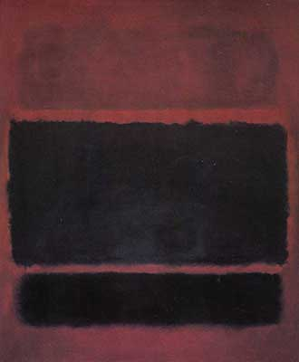 Mark Rothko, Brown, Black on Maroon Fine Art Reproduction Oil Painting