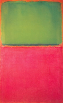 Mark Rothko, Green, Red on Orange Fine Art Reproduction Oil Painting
