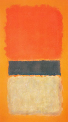 Mark Rothko, Orange, Gold and Black Fine Art Reproduction Oil Painting