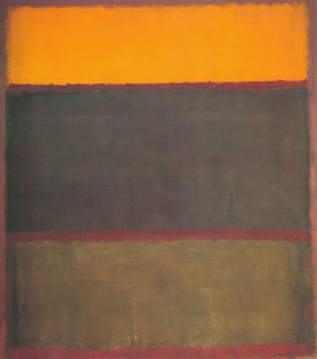 Mark Rothko, Orange, Wine, Grey on Plum Fine Art Reproduction Oil Painting