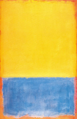 Mark Rothko, Yellow, Blue on Orange Fine Art Reproduction Oil Painting