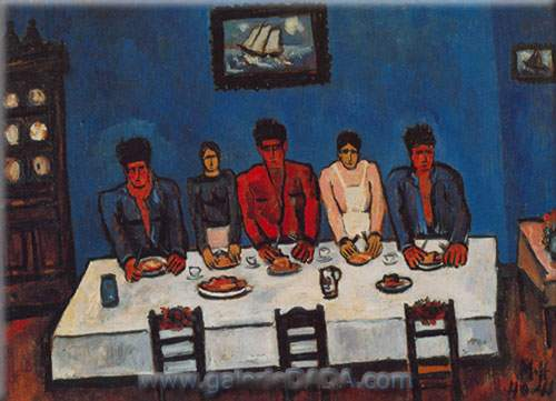 Marsden Hartley, Fishermans Last Supper Fine Art Reproduction Oil Painting