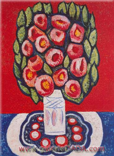 Marsden Hartley, (Flowers) Roses from Hispania Fine Art Reproduction Oil Painting