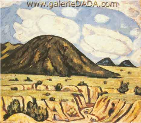 Marsden Hartley, Landscape New Mexico Fine Art Reproduction Oil Painting