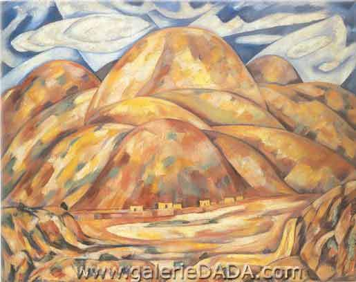 Marsden Hartley, Landscape New Mexico No. 3 Fine Art Reproduction Oil Painting