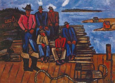 Marsden Hartley, Lobster Fishermen Fine Art Reproduction Oil Painting