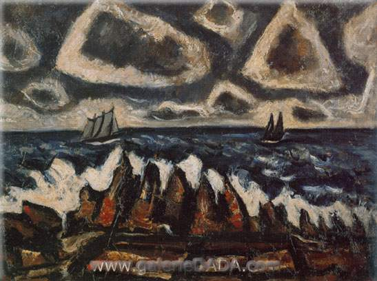 Marsden Hartley, Northern Seacape Fine Art Reproduction Oil Painting
