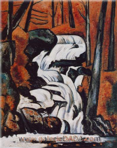 Marsden Hartley, Smelt Brook Falls Fine Art Reproduction Oil Painting