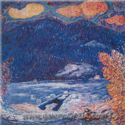 Marsden Hartley, The Ice Hole Maine Fine Art Reproduction Oil Painting