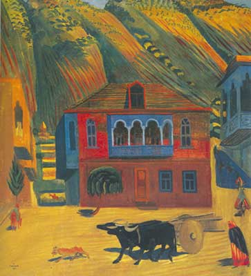Martiros Saryan, Afternoon. Old Tiflis Fine Art Reproduction Oil Painting