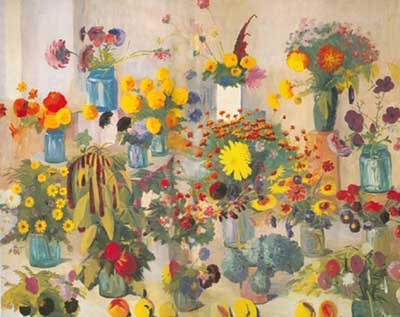 Martiros Saryan, Flowers for the Armenians Who Died in the War Fine Art Reproduction Oil Painting