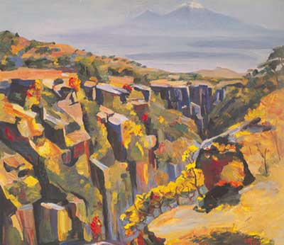 Mount Aragats - Martiros Martiros, Fine Art Reproduction Oil Painting