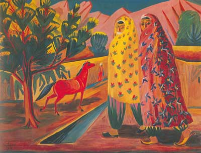 Martiros Saryan, The Red Horse Fine Art Reproduction Oil Painting