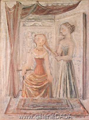 Massimo Campigli, La Sorelle Fine Art Reproduction Oil Painting