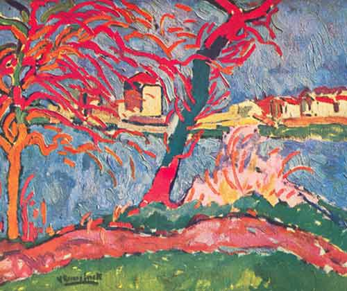 Maurice de Vlaminck, The Banks of the Seine at Carrieres-sur-Seine Fine Art Reproduction Oil Painting