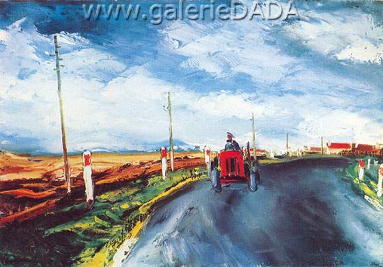 Maurice de Vlaminck, The Red Tractor Fine Art Reproduction Oil Painting