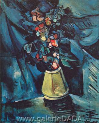 Maurice de Vlaminck, Vase of Flowers Fine Art Reproduction Oil Painting