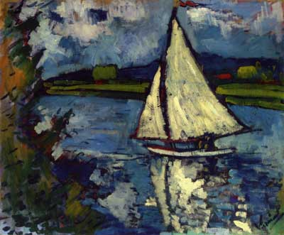 Maurice de Vlaminck, White Sailboat at Chatou Fine Art Reproduction Oil Painting