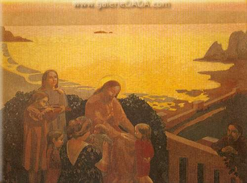 Maurice Denis, Christ Receiving the Children Fine Art Reproduction Oil Painting