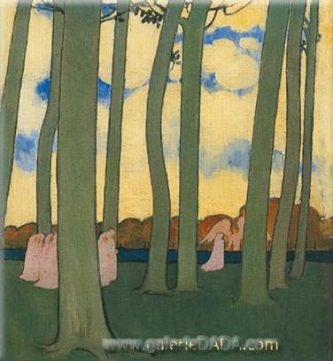 Maurice Denis, Landscape with Green Trees Fine Art Reproduction Oil Painting