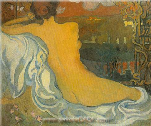 Nude at Dusk - Maurice Maurice, Fine Art Reproduction Oil Painting