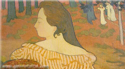 Maurice Denis, Sleeping Beauty in Autumn Fine Art Reproduction Oil Painting
