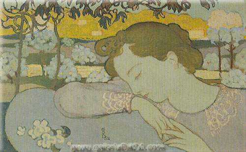 Maurice Denis, Sleeping Girl Fine Art Reproduction Oil Painting