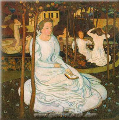 Maurice Denis, The Orchard of the Wise Virgins Fine Art Reproduction Oil Painting