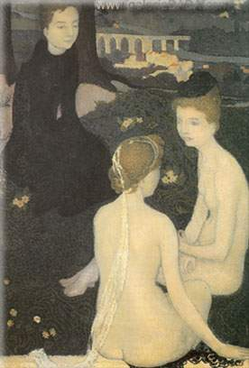 Maurice Denis, Trinitarian Evening Fine Art Reproduction Oil Painting