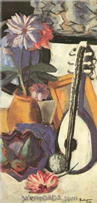 Max Beckmann, Still Life of Flowers with Mirror Fine Art Reproduction Oil Painting