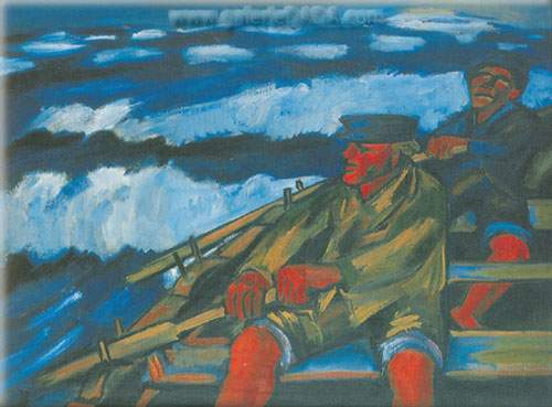 Max Pechstein, Fishermen in a Boat Fine Art Reproduction Oil Painting