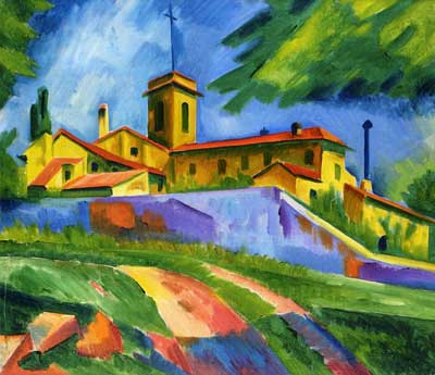 Max Pechstein, Italian Church - Convent of San Gimignano Fine Art Reproduction Oil Painting