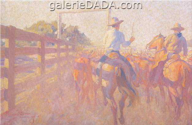 Maynard Dixon, Corral Dust Fine Art Reproduction Oil Painting
