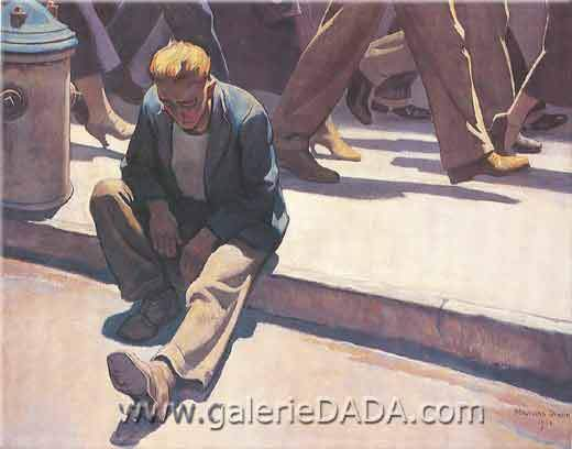 Maynard Dixon, Forgotten Man Fine Art Reproduction Oil Painting