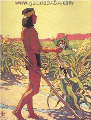 Maynard Dixon, Guard of the Cornfields Fine Art Reproduction Oil Painting