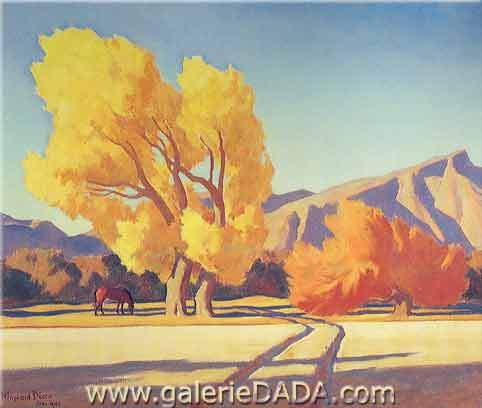 Maynard Dixon, Horse Creek Crossing Fine Art Reproduction Oil Painting