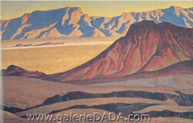 Maynard Dixon, Iron Mountains Fine Art Reproduction Oil Painting