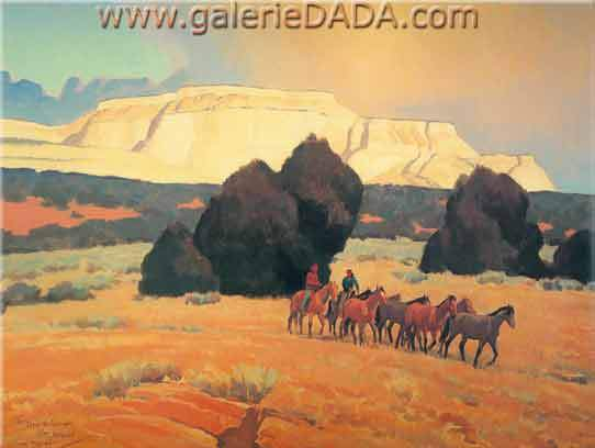 Maynard Dixon, Land of the White Mesas Fine Art Reproduction Oil Painting
