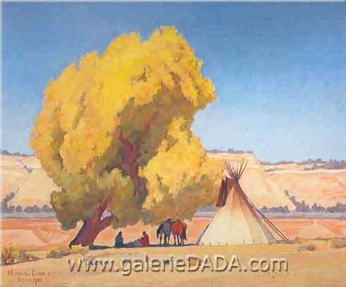 Maynard Dixon, Lazy Autumn Fine Art Reproduction Oil Painting