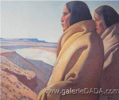 Maynard Dixon, Men of the Red Earth Fine Art Reproduction Oil Painting