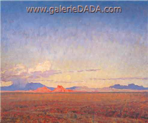 Maynard Dixon, Moonrise over the Desert Fine Art Reproduction Oil Painting