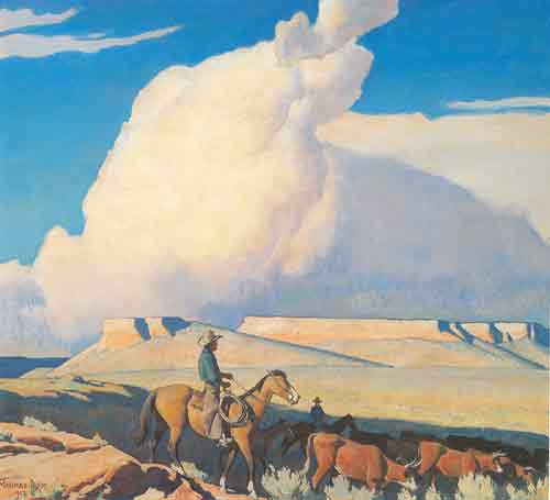Maynard Dixon, Open Range Fine Art Reproduction Oil Painting