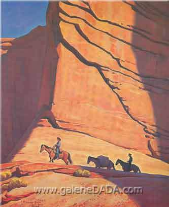 Maynard Dixon, Red Gateway Fine Art Reproduction Oil Painting